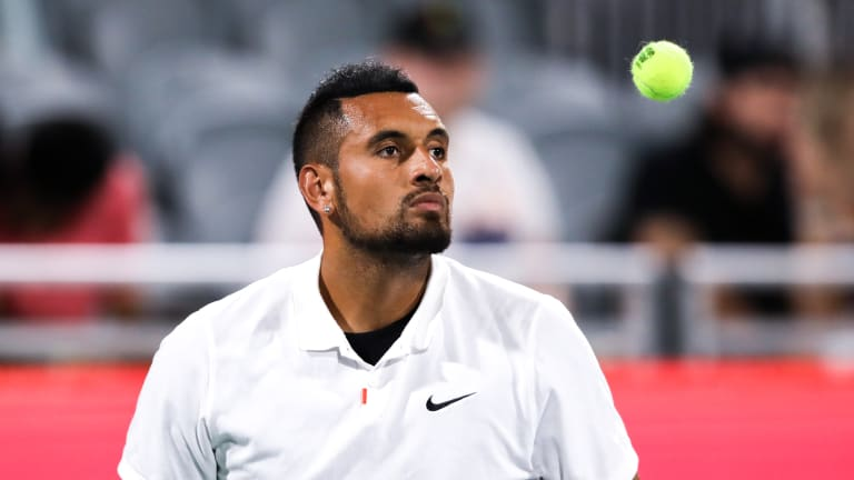 Kyrgios didn't play a tournament between the Australian Open and Wimbledon, but is playing his second event in two weeks in the U.S.