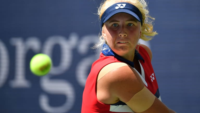 Tauson pushed world No. 1 Ashleigh Barty through two tough sets at the US Open last month.