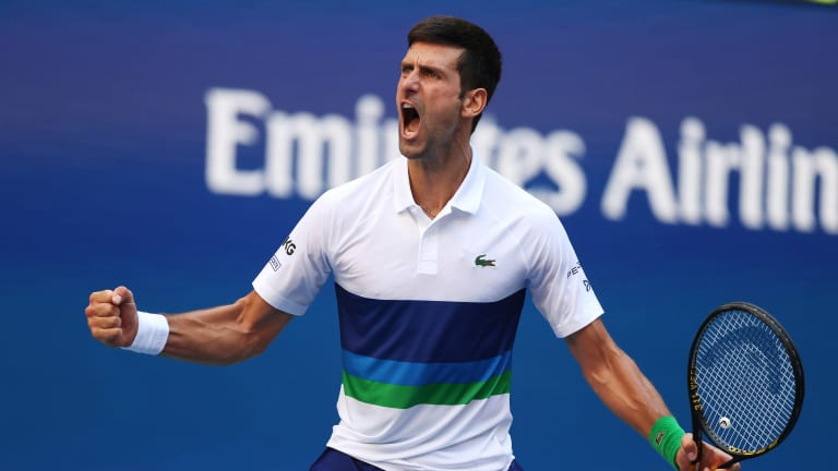 Djokovic has been handling the irritations that accrue with his standing in the imagination of the tennis public with great tact and forbearance.