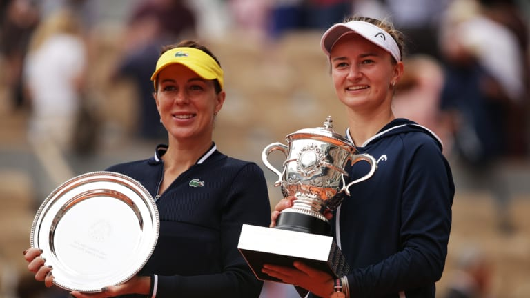 Anastasia Pavlyuchenkova and Barbora Krejcikova played the match of their lives with a maiden major title on the line (Getty Images).