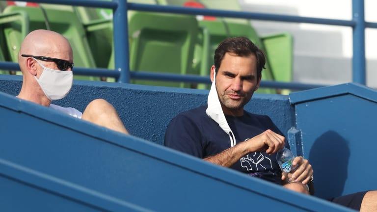 Top 5 Photos 3/9:  Federer scouts Dan  Evans' Doha opener