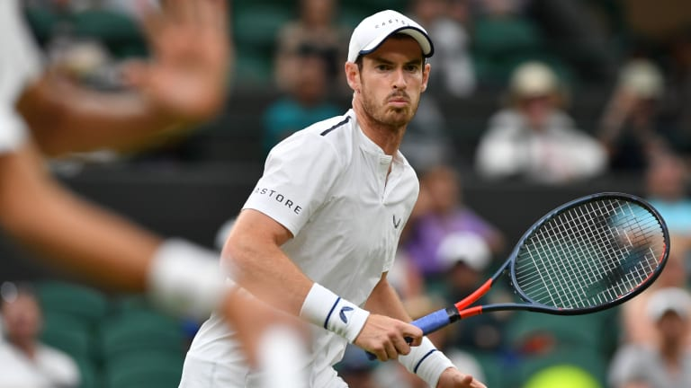Andy Murray needed a wild card to get into Wimbledon, and his last memorable moment at the tournament came when he played mixed doubles with Serena. But the beloved two-time champion will try and rekindle great Centre Court memories when he faces Nikoloz Basilashvili.