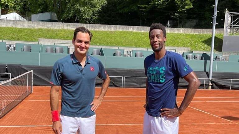 Federer and Gael Monfils