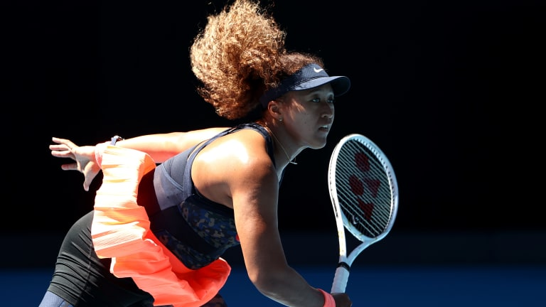 Naomi Osaka manages nerves and locates serves in AO win over Serena
