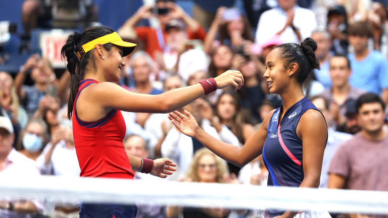 Raducanu and Fernandez played the ninth all-teenage Grand Slam women's final of the Open Era. The first eight were all between 1988 and 1999.