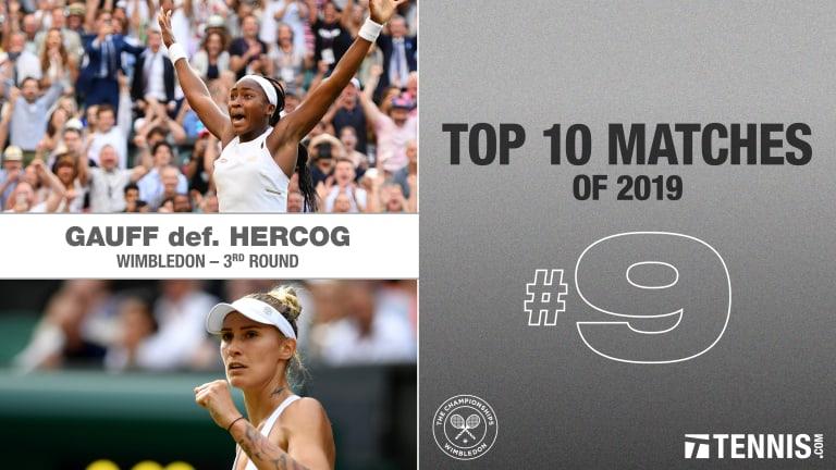 2019 Top Matches, No. 9: Gauff d. Hercog, Wimbledon third round