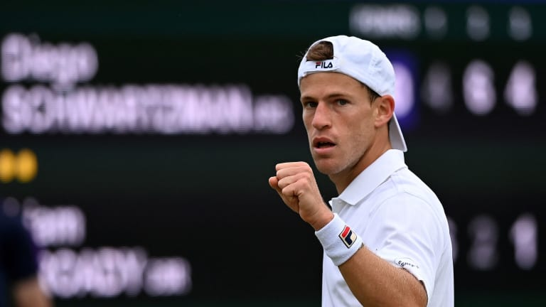 Schwartzman rallied from a set down to defeat Briton Liam Broady in four on Wednesday. (Getty Images)
