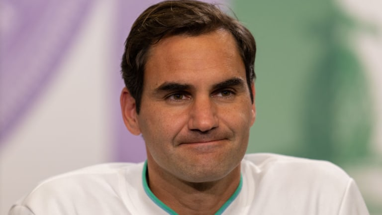 """""""I'm actually very happy I made it as far as I did here and I actually was able to play Wimbledon at the level that I did after everything I went through,"""" said Federer. """"Of course I would like to play it again, but at my age you're just never sure what's around the corner."""""""