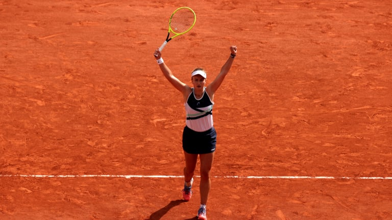 Krejcikova dealt with a number of close calls during her title run, all the way down to the final point.