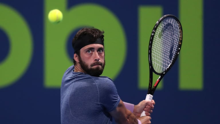 """Jon (@JRTweetsTennis) often finds value in """"talented but quirky players"""" like Nikoloz Basilashvili (pictured), Martin Klizan and Jiri Vesely."""