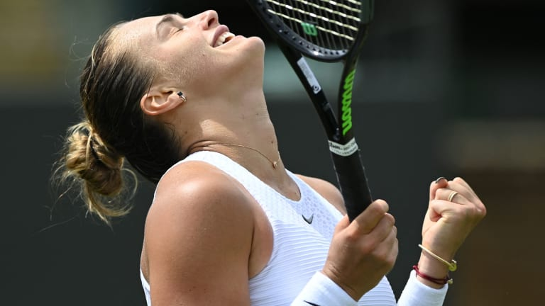 No. 2 seed Sabalenka hadn't been past the fourth round in her first 14 Grand Slam appearances (Getty Images).