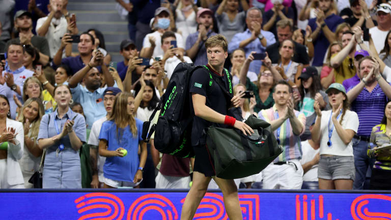 Before strained glutes contributed to a four-set defeat at the US Open, Brooksby severely tested Djokovic, winning the first set 6-1.