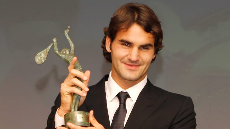 Federer at the ITF World Champions Gala, June 2010.