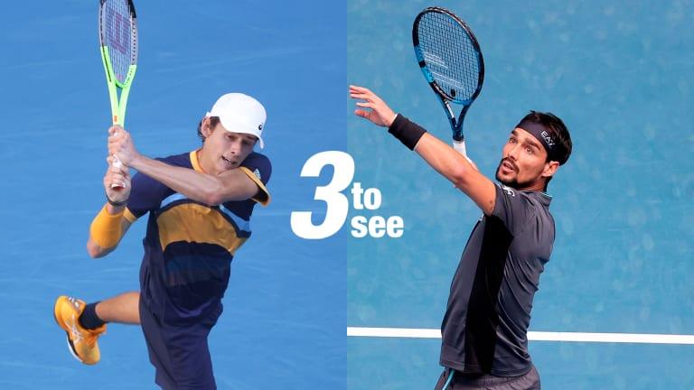 Three to See, AO Day 6: Barty vs. pressure & Alexandrova; Italy's men