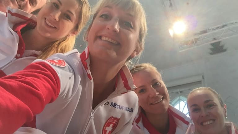 Bacsinszky first came together with Hingis through a victorious BJK (née Fed) Cup tie against Poland (Timea Bacsinszky).
