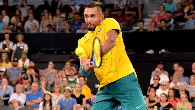 Top 5 Photos, 1/7: Kyrgios comes up big for Australia