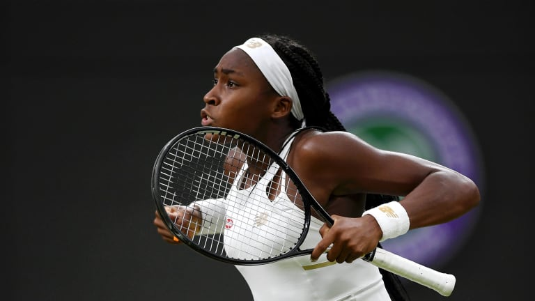 Coco Gauff is the youngest at Wimbledon, but she plays a grown-up game