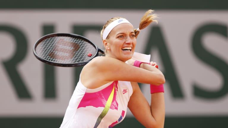 "Calling Roland Garros her ""lucky place,"" Kvitova rolls into semifinals"