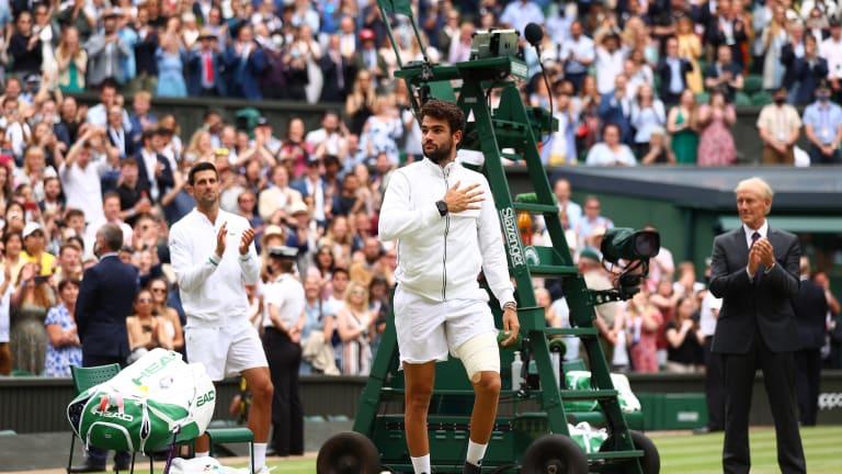 """He's the Italian Hammer,"" Djokovic said of Berrettini."