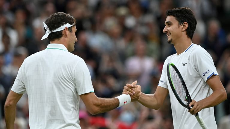 Federer shook off an 11-point streak from Sonego to reach his 18th Wimbledon quarterfinal (Getty Images).