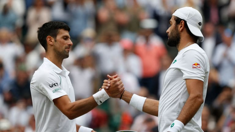 With his win over Matteo Berrettini in the final, Djokovic has now won 16 of his last 18 matches against Top 10 players at Grand Slams.