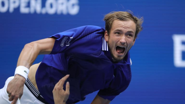 Medvedev's serve, like pretty much every part of his game, is like no other.
