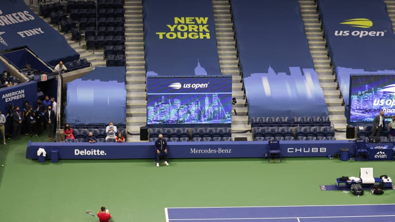 A look at Arthur Ashe stadium during the 2020 US Open men's singles final, won by Dominic Thiem.