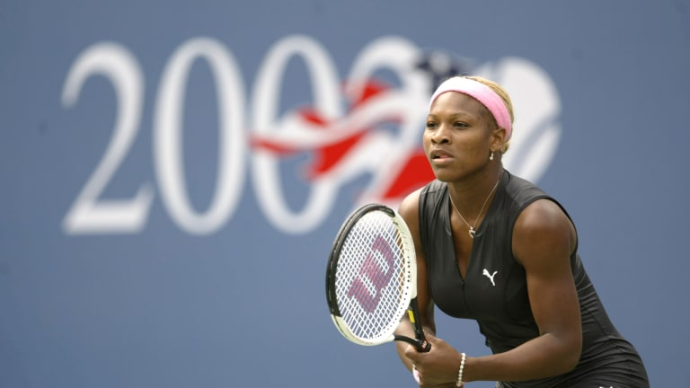 Serena Williams at the 2002 US Open