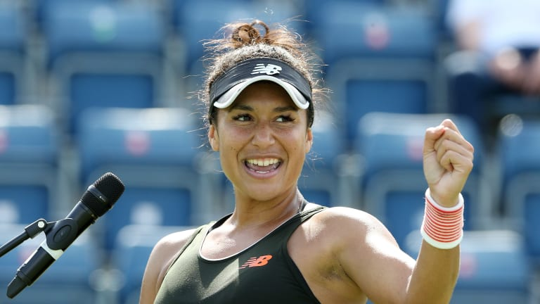 Coming back from a set down, the Brit defeated Viktorija Golubic, 3-6, 6-2, 6-2, to advance into Birmingham's second round.