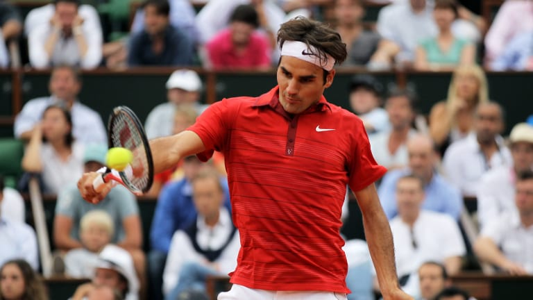 The crowd was firmly behind Federer and his array of shotmaking skill.