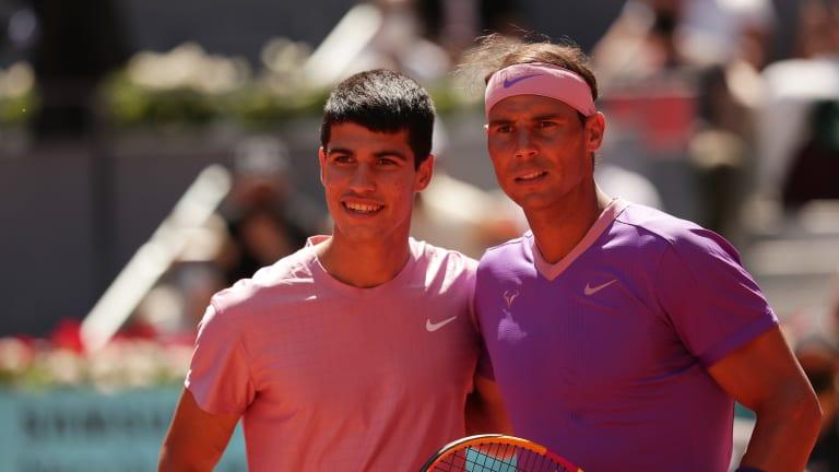 Carlos Alcaraz learns birthday lesson against idol Rafael Nadal