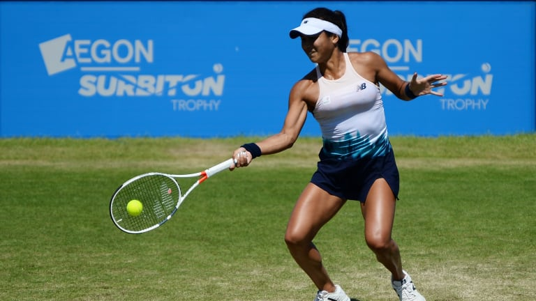 Surbiton, a grass event in England, offers an escape from French clay