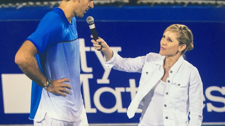The most intimate—and potentially terrifying—job in tennis: An emcee