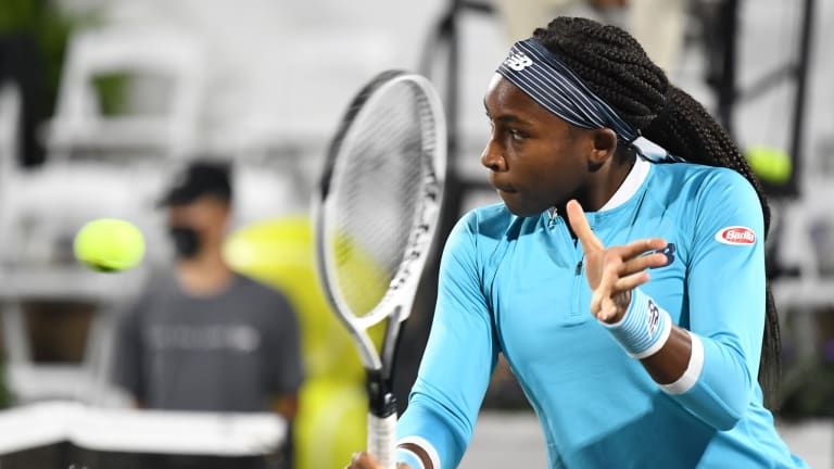 Coco Gauff makes winning tour-level debut on green clay in Charleston