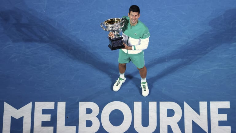 Djokovic's 2021 Grand Slam Matches Tennis