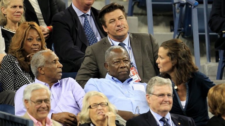 With Serena's major chase, Hank Aaron's connection to tennis endures