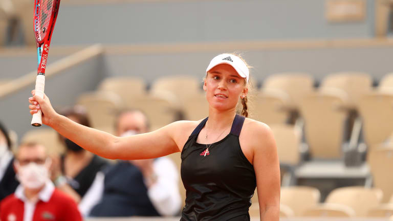 Rybakina, well known in tennis circles, should earn worldwide attention for her play today.