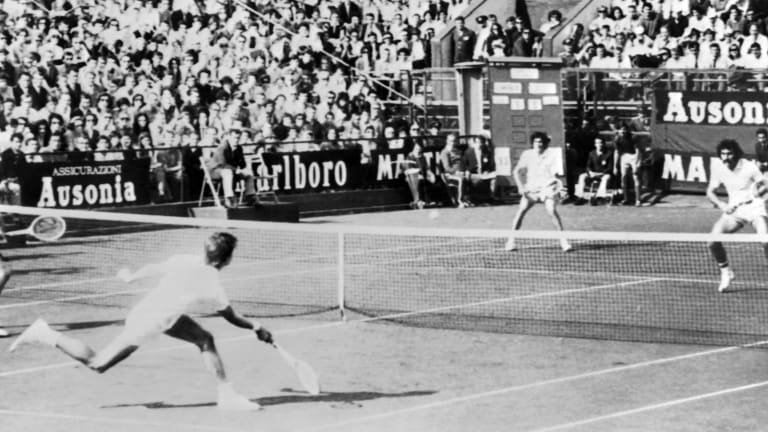 Smith famously helped lead the U.S. to a stunning Davis Cup win over Romania in 1972 (Getty Images).