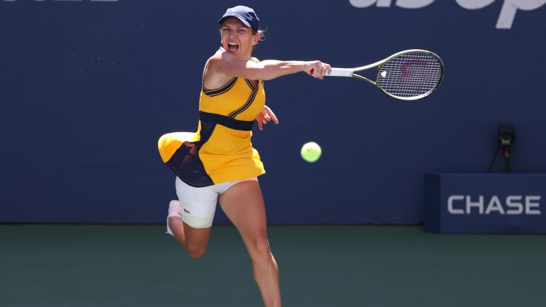 Simona Halep battled through a blockbuster third round with Elena Rybakina to kick off an explosive Day 5 at the US Open.