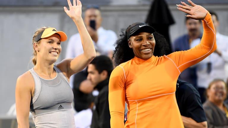 Serena and Wozniacki dominate top seeds; Gauff and McNally advance