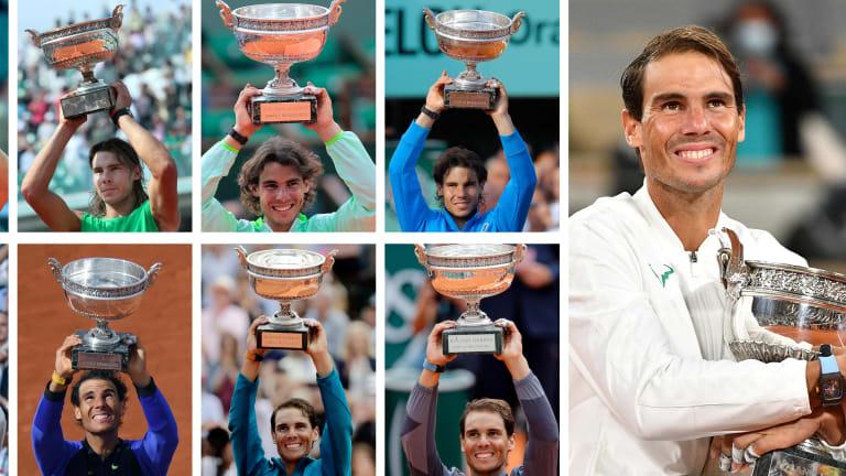Nadal won his 13th Roland Garros crown at the 2020 edition. (Getty Images)