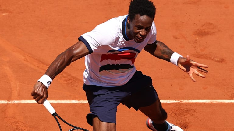 Gael Monfils dropped a 6-0 set to Mikael Ymer in the second round, and could never fully recover, eventually falling in four.