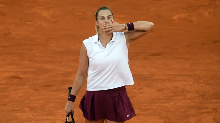 Aryna Sabalenka stunned Barty to win the Mutua Madrid Open (Getty Images).
