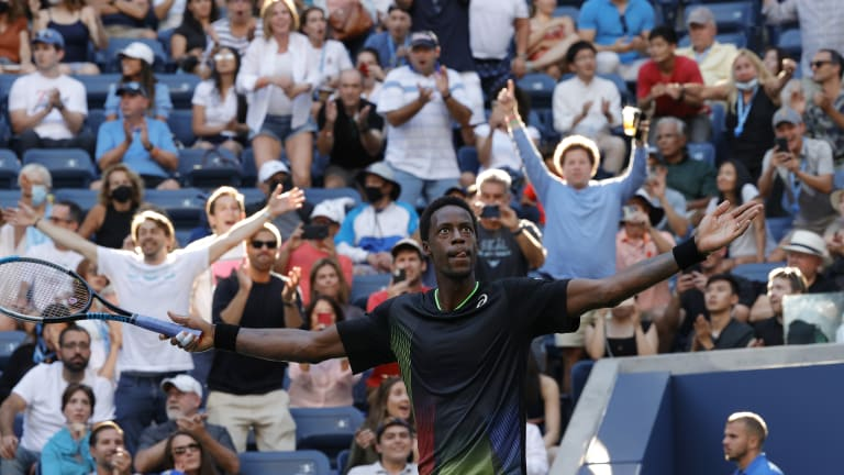 """When Monfils won the fourth set, fans in Court 17 couldn't take it anymore. We bolted out of our seats at the next changeover and started a stampede for Armstrong. """"What's happening?"""" people kept asking as we streamed past. """"Monfeels and Sinner are in a fifth set,"""" came the answer."""