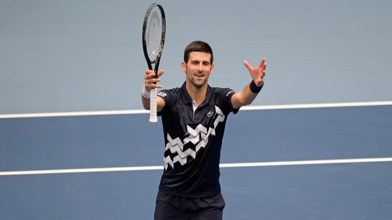 Eye on the prize: Novak Djokovic closes in another year-end No. 1 rank