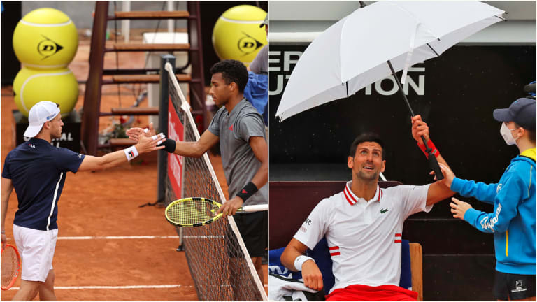 WATCH—Unable to close out Fritz in Rome rain, Djokovic vents to umpire