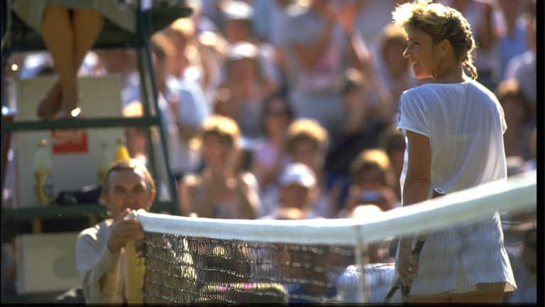 Chris Evert retired from tennis in 1989 (Getty Images).