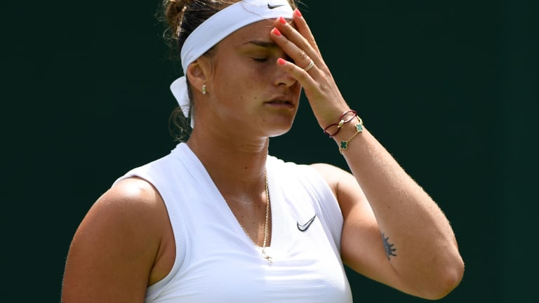 First Wimbledon seed out: Aryna Sabalenka's struggles continue