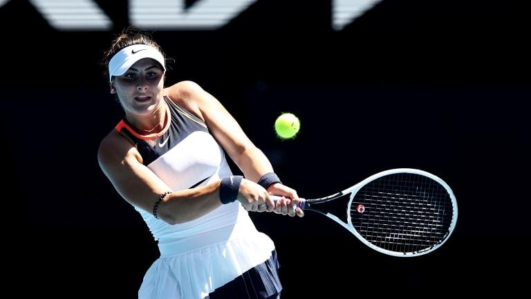 """""""Belinda"""" Andreescu  shakes off name slip in Miami press"""