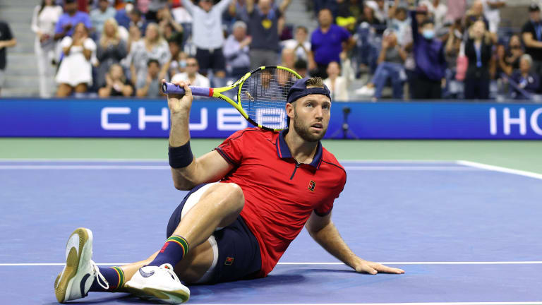 When focused and engaged, Sock can hang with the ATP's best.